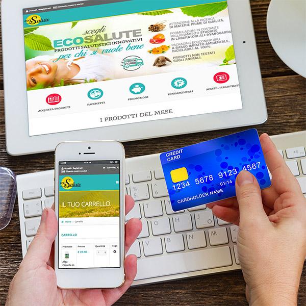 E-commerce Ecosalute di Studio Réclame ottimizzato per tutti i dispositivi